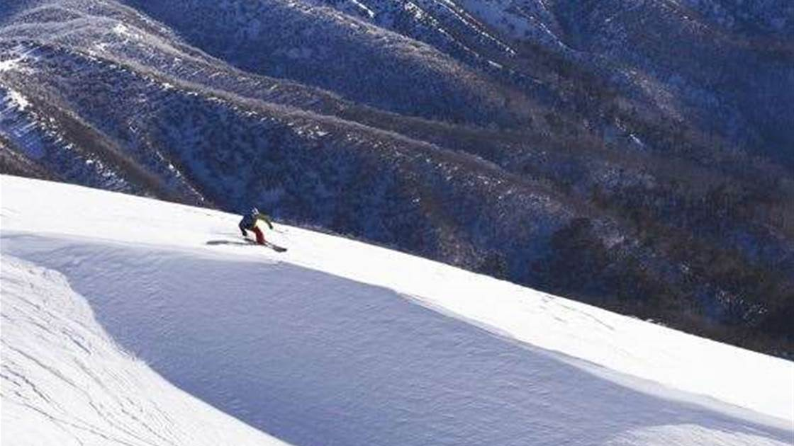 Hotham Skiing - Learning to slide