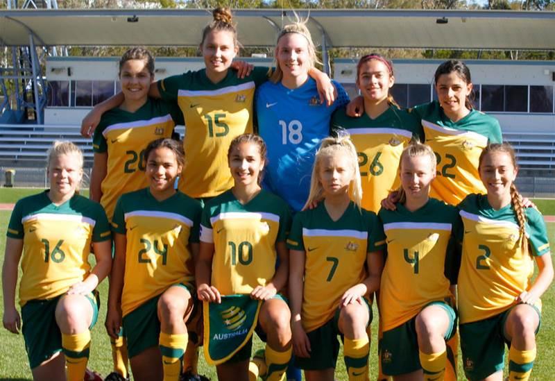 Mini Matildas warm-up a raging success