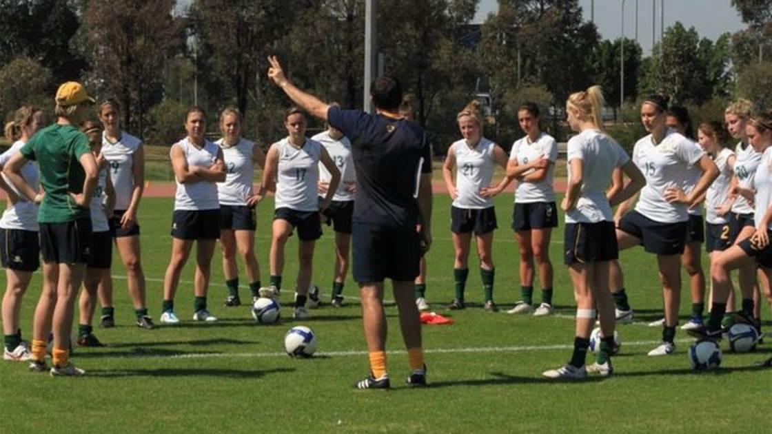 Young Matildas head into camp
