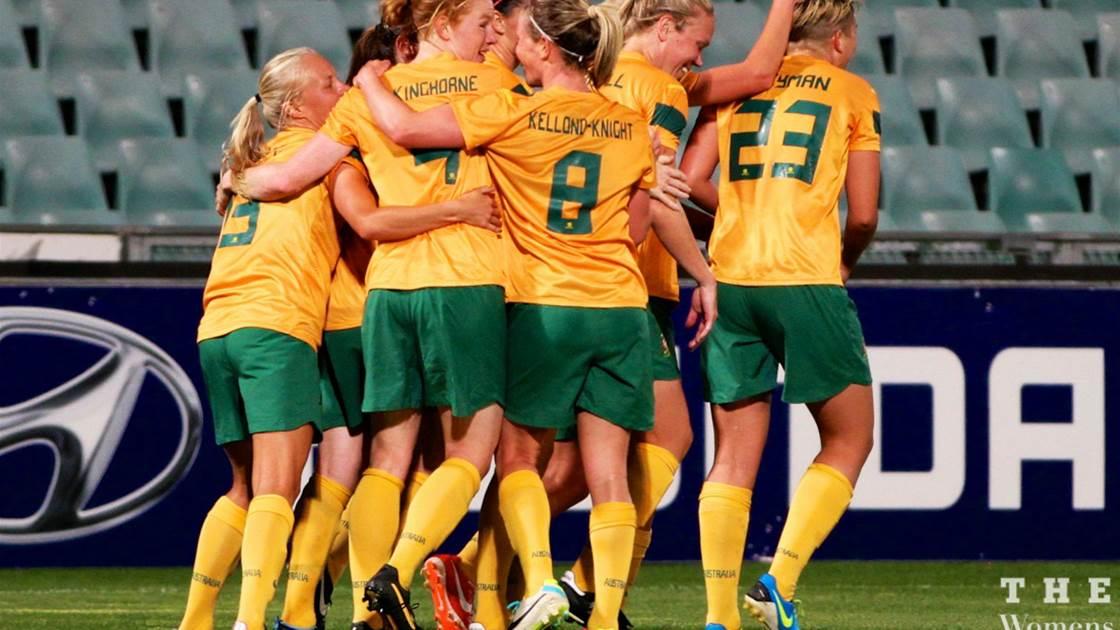Matildas edge China to claim two-game series