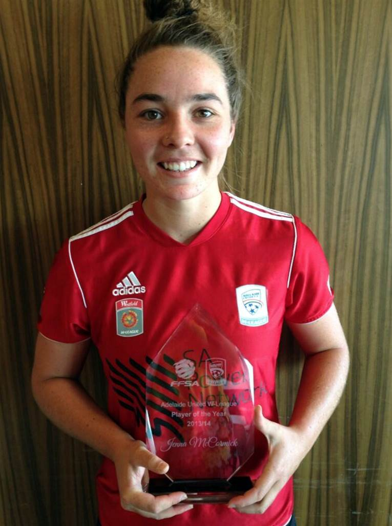 Jenna McCormick wins Adelaide United Player of the Year