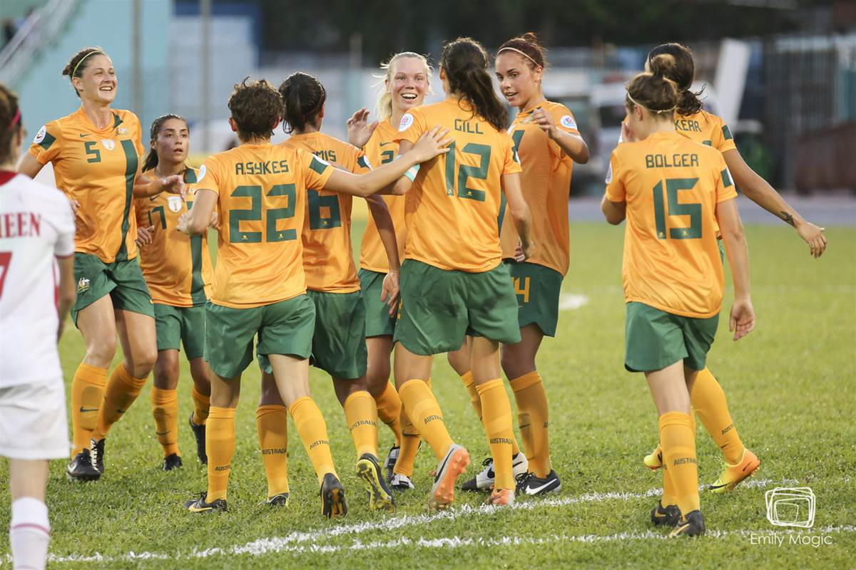 Kate Gill makes history as Matildas defeat Jordan 3-1