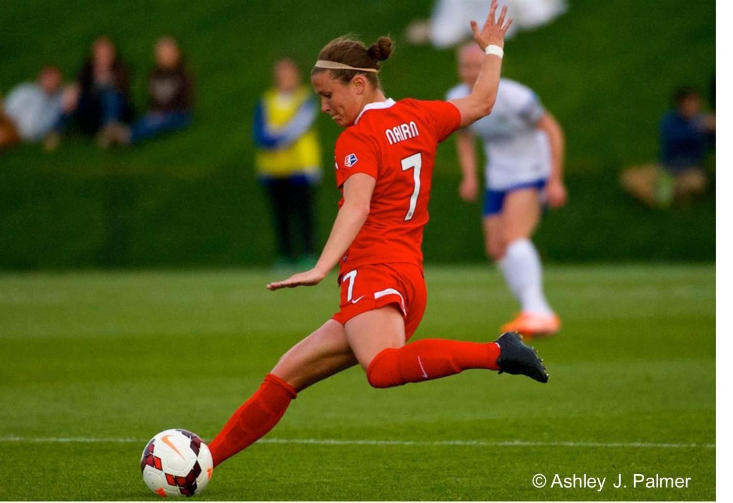 Midfielder Christine Nairn Melbourne Victory's final international