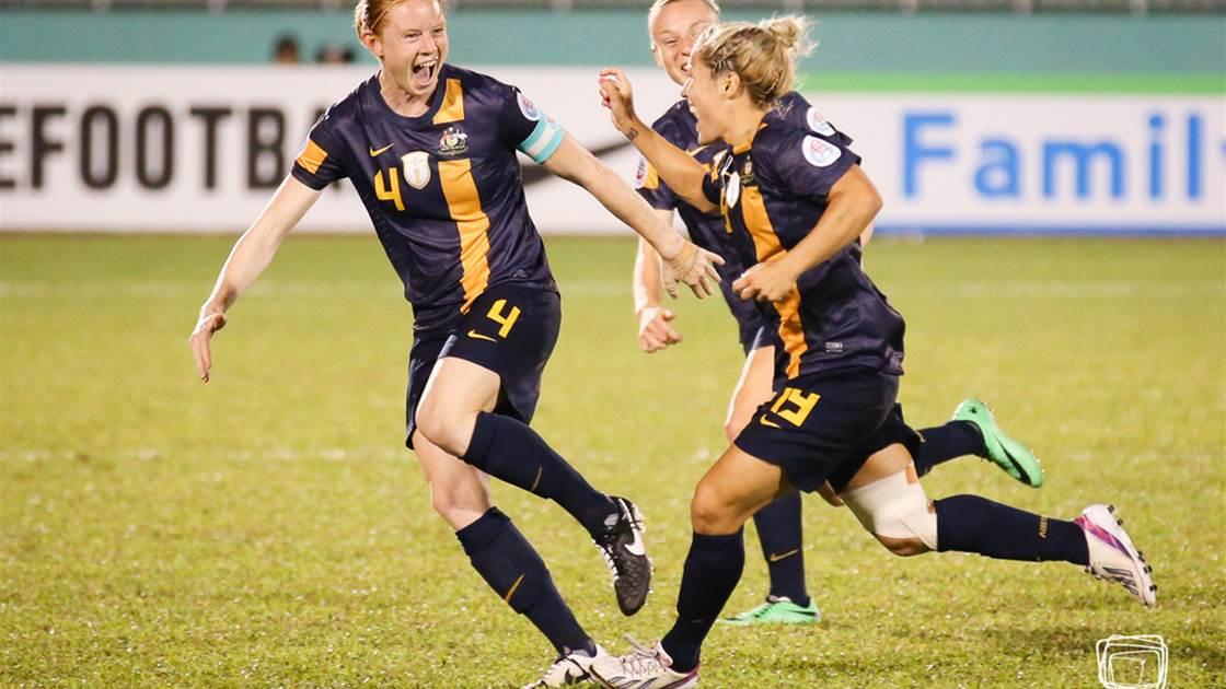 1. Matildas win silver at 2014 Asian Cup