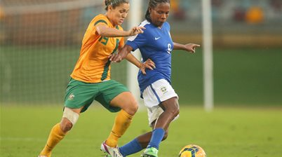 6. Matildas defeat Top 5 ranked Brazil