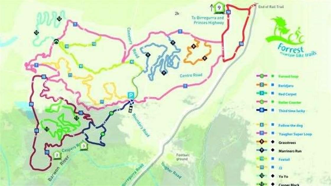 Forrest, Otway Ranges Bike Track