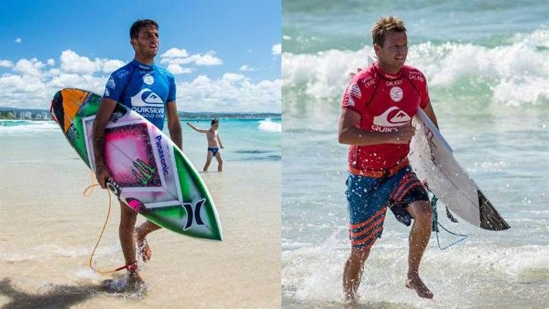 Brazil vs. Australia on Finals Day at the Quiky Pro