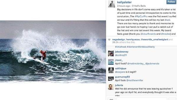 Kelly Slater Announces His Retirement
