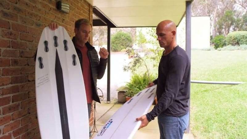 Kelly Slater Opens His Board Bag