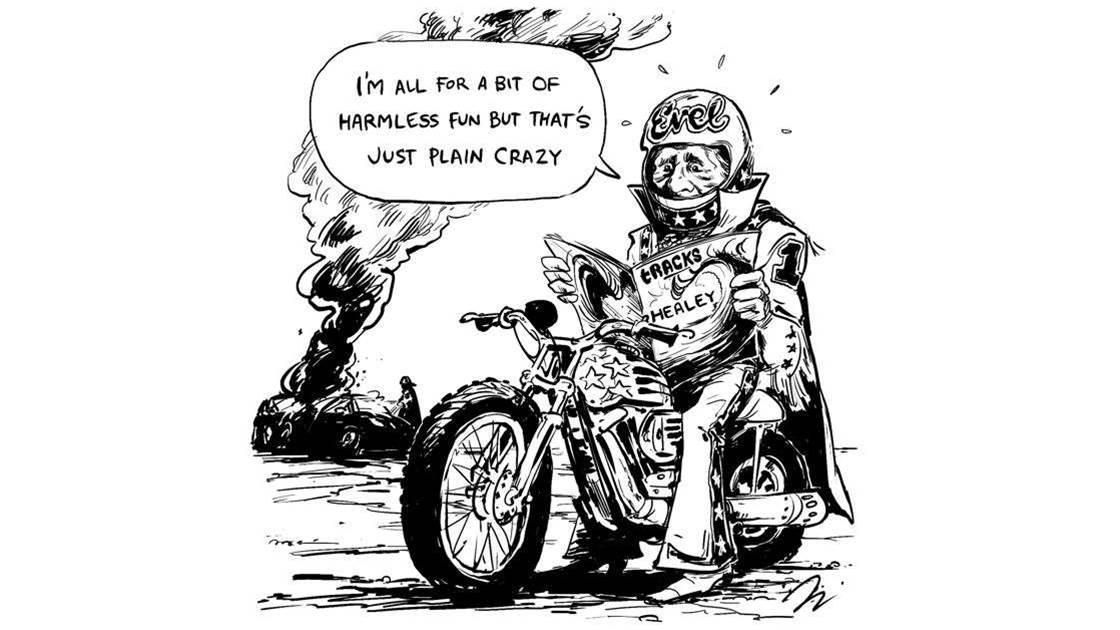 Friday Heckle: Healey Knievel