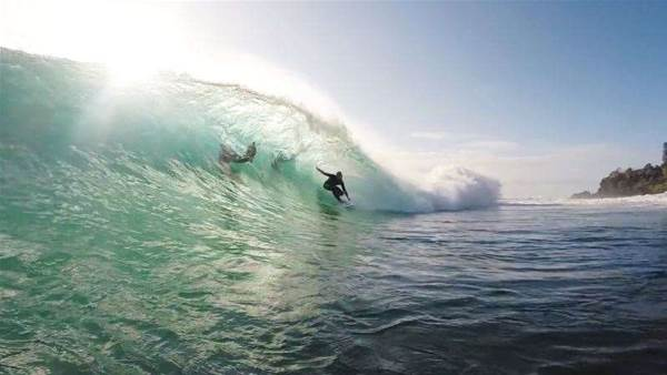 Mick Fanning & Co. Behind The Rock