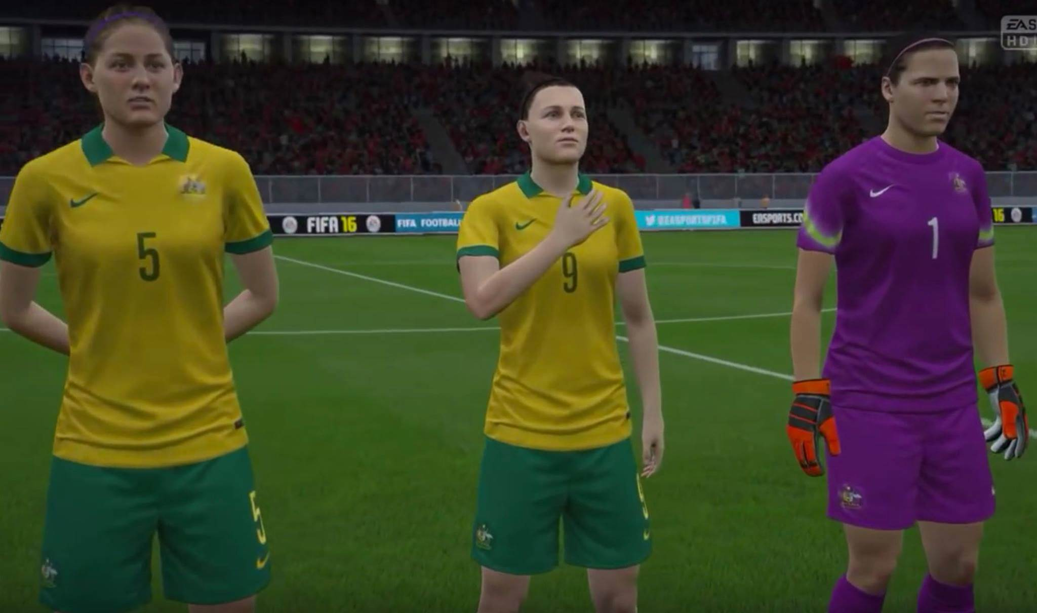 First look at Matildas on FIFA 16