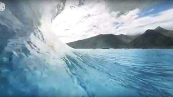CJ Hobood Tours A Virtual Reality Tube At Teahupo'o