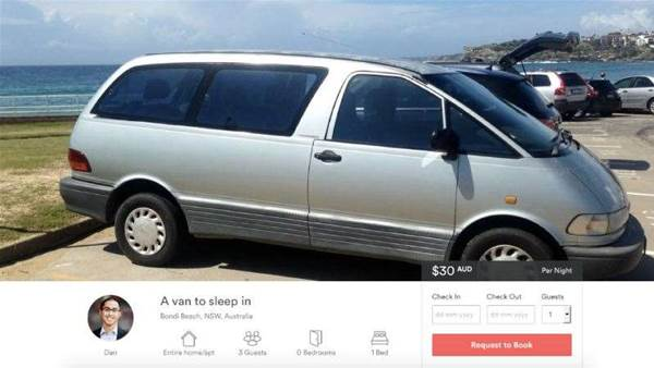 Man Advertises Toyota Tarago As Airbnb At Bondi Beach