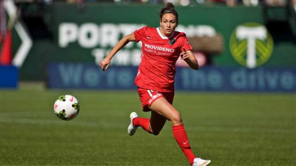 Canberra United complete loan signing of Portland Thorns striker Jodie Taylor