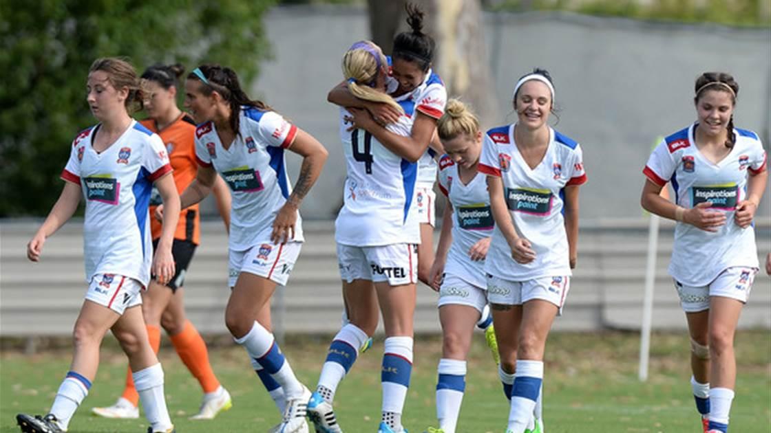 Newcastle Jets fire against Brisbane Roar