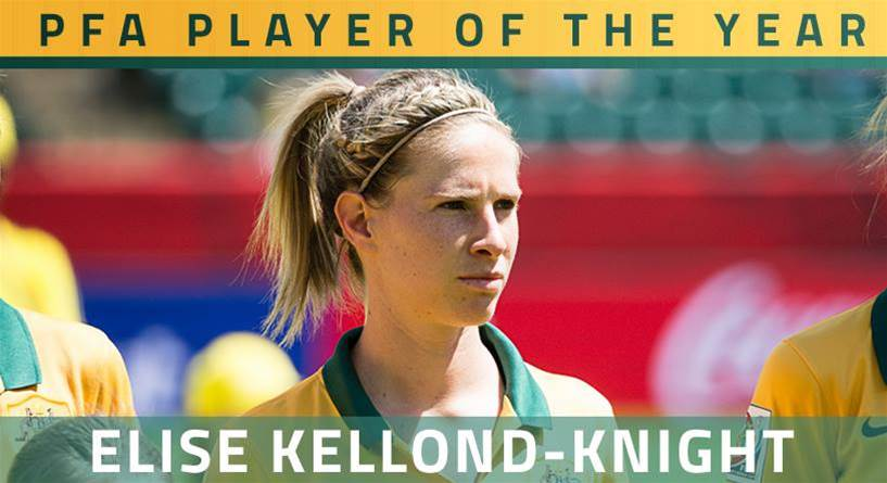 Elise Kellond-Knight voted 2015 PFA Footballer of the Year