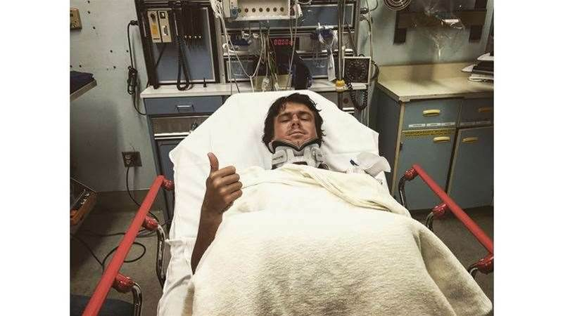 Albee Layer Suffers Brutal Wipeout At Jaws