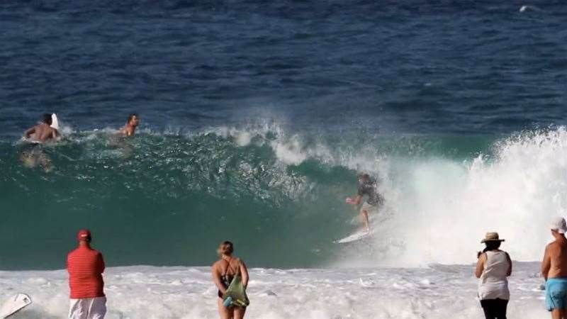 Quiky Pro Warm Up With Mick Fanning And Jack Freestone