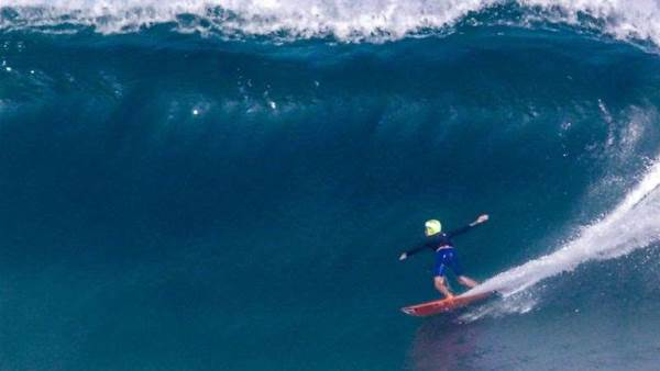 14-year-old Justin Becret Charges Late Season Hawaii