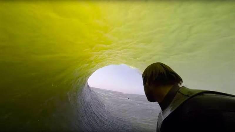 Anthony Walsh takes Tracks inside the tube at Skeleton Bay