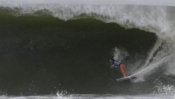 Tyler Wright Gets Ridiculously Barrelled At Home