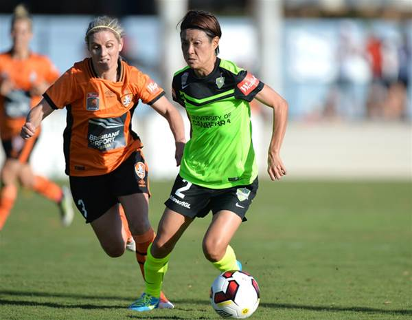 Canberra United claim first win in tight contest with Brisbane Roar