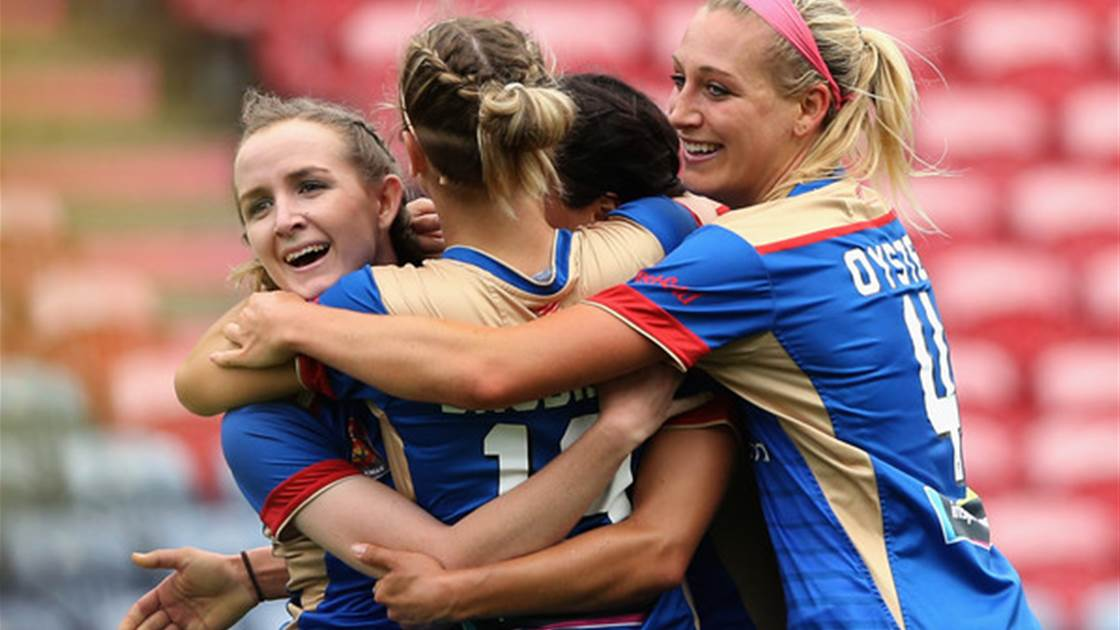 Newcastle Jets leave it late in crucial win over Brisbane Roar