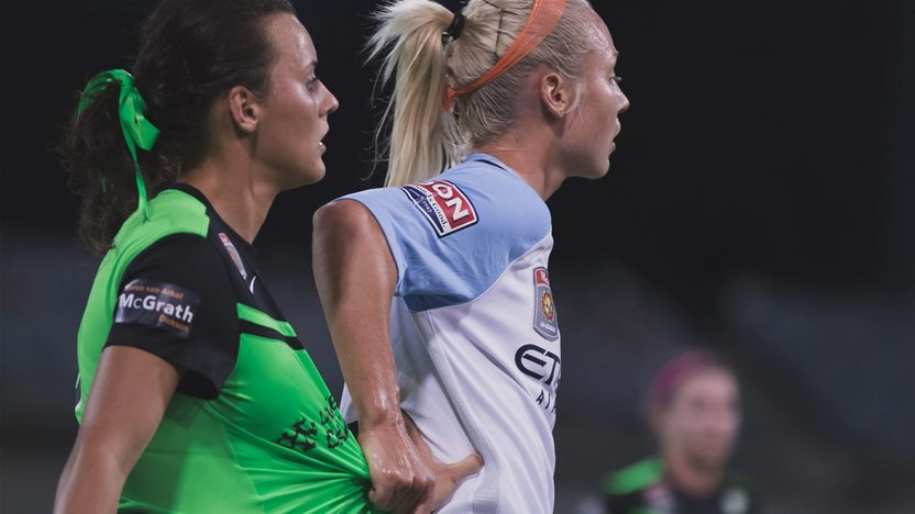 Melbourne City defeat Canberra United in a tight semi final