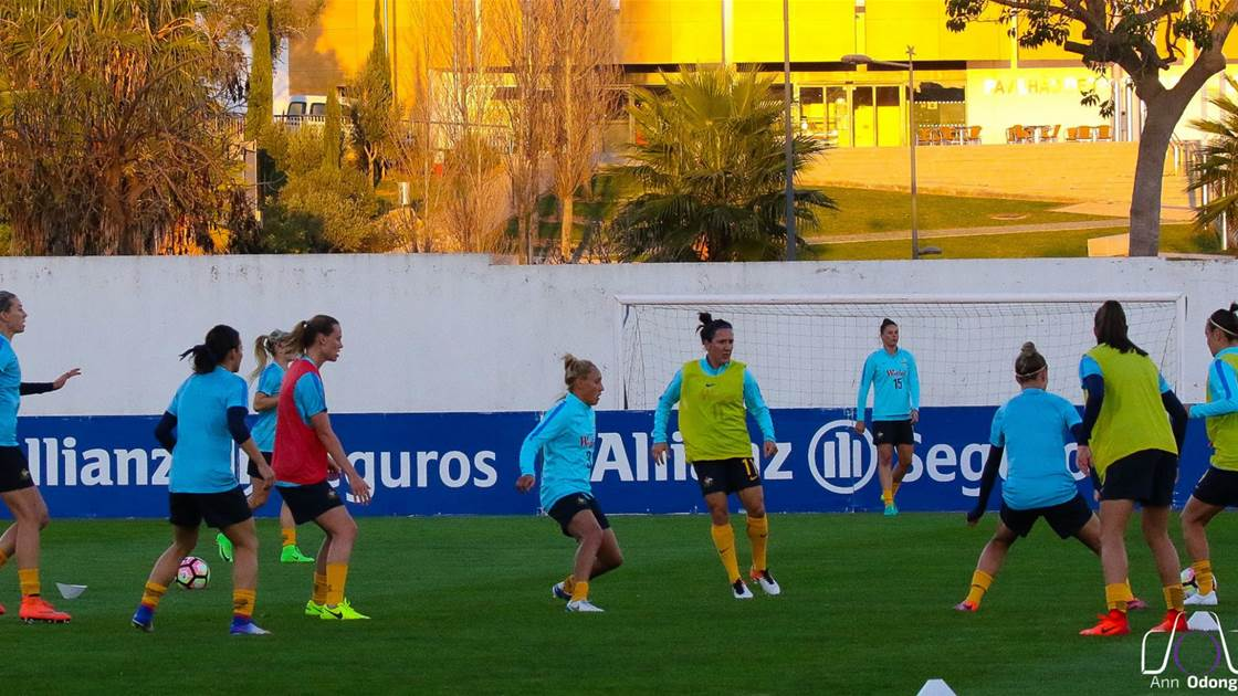 Australian based players converge for Matildas camp