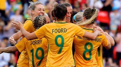 Kerr and De Vanna on target in Matildas 2-1 win over Brazil