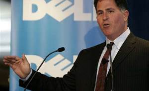 Dell founder says happy with CEO Rollins' role