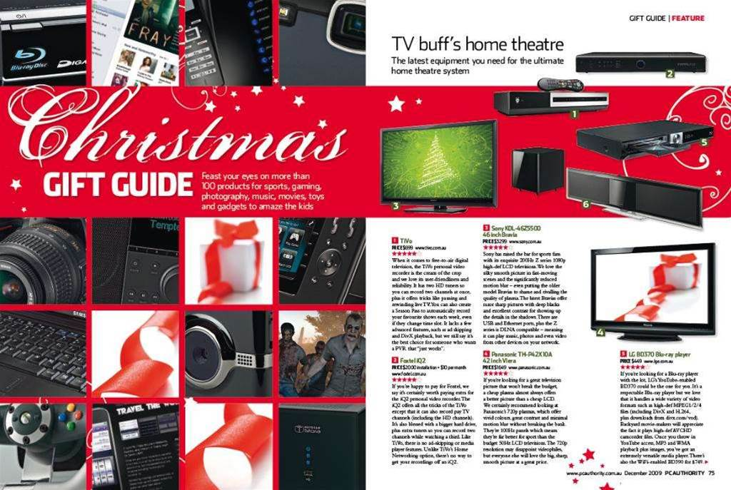 New magazine issue! With 101 Christmas gift ideas, including toys, sport, games, home theatre . . .