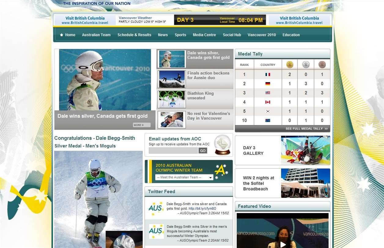 Silver medal drives spike on Olympics site