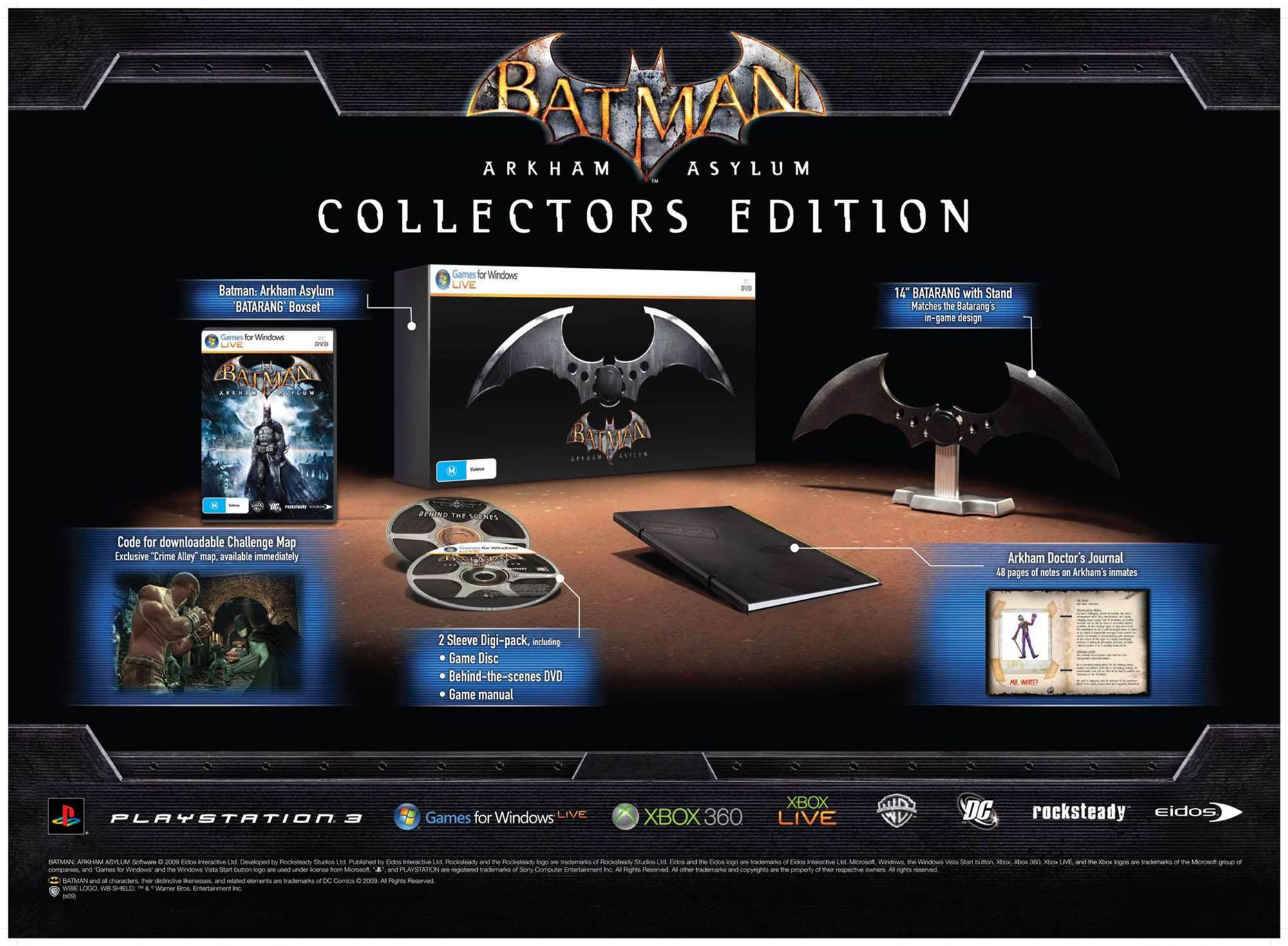 Arkham Asylum Collecter's Edition announced