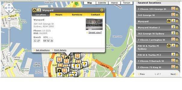 CBA uses Google Maps for ATM locator