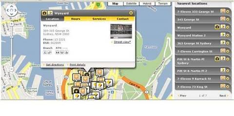 CBA uses Google Maps for ATM locator