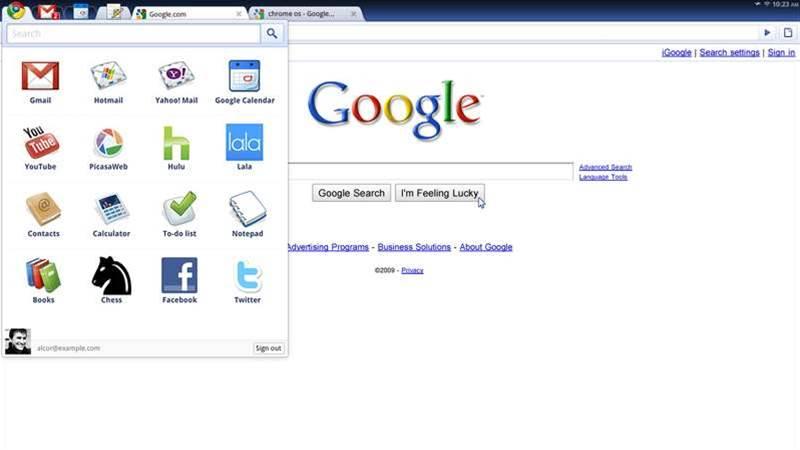 Google Chrome OS 60-times smaller than Windows