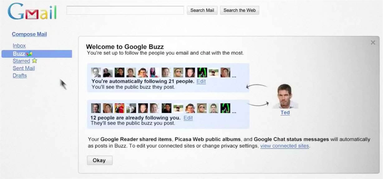 Google moves into social networking with Buzz