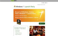 Microsoft seeks party hosts for Windows 7 launch