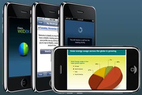 The iPhone for work? We get a tour of Cisco's Webex Meeting Center for iPhone