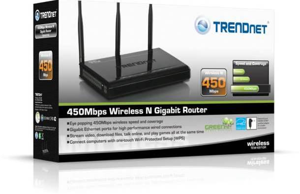 Trendnet first to market with 450Mbps Wireless N router