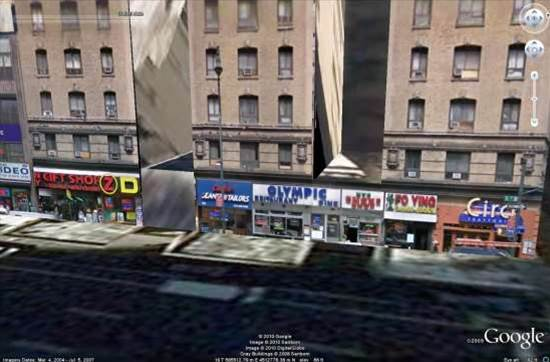 Street View photos used for amazing Google Earth 3D cities