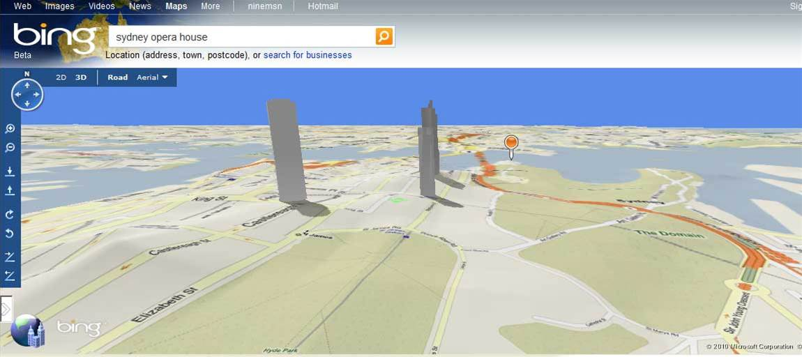 Bing Maps released down under