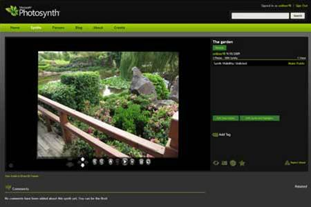 Microsoft releases Photosynth