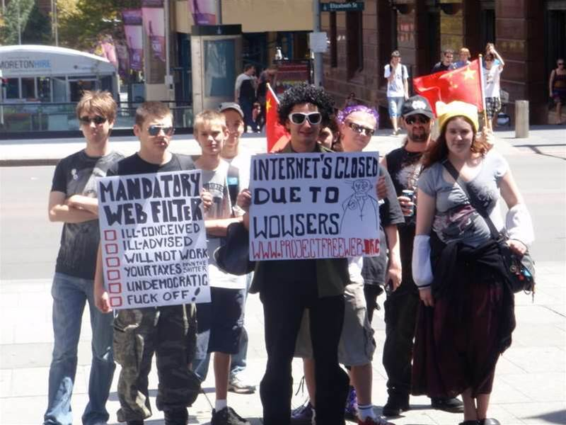 Project Freeweb protest hits Adelaide again
