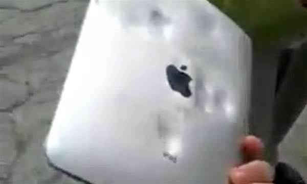 Video: Apple iPad explodes, blends and is beaten