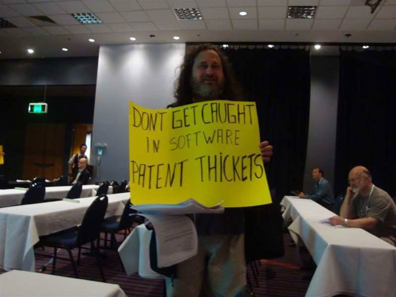Video: Stallman on software patent fears