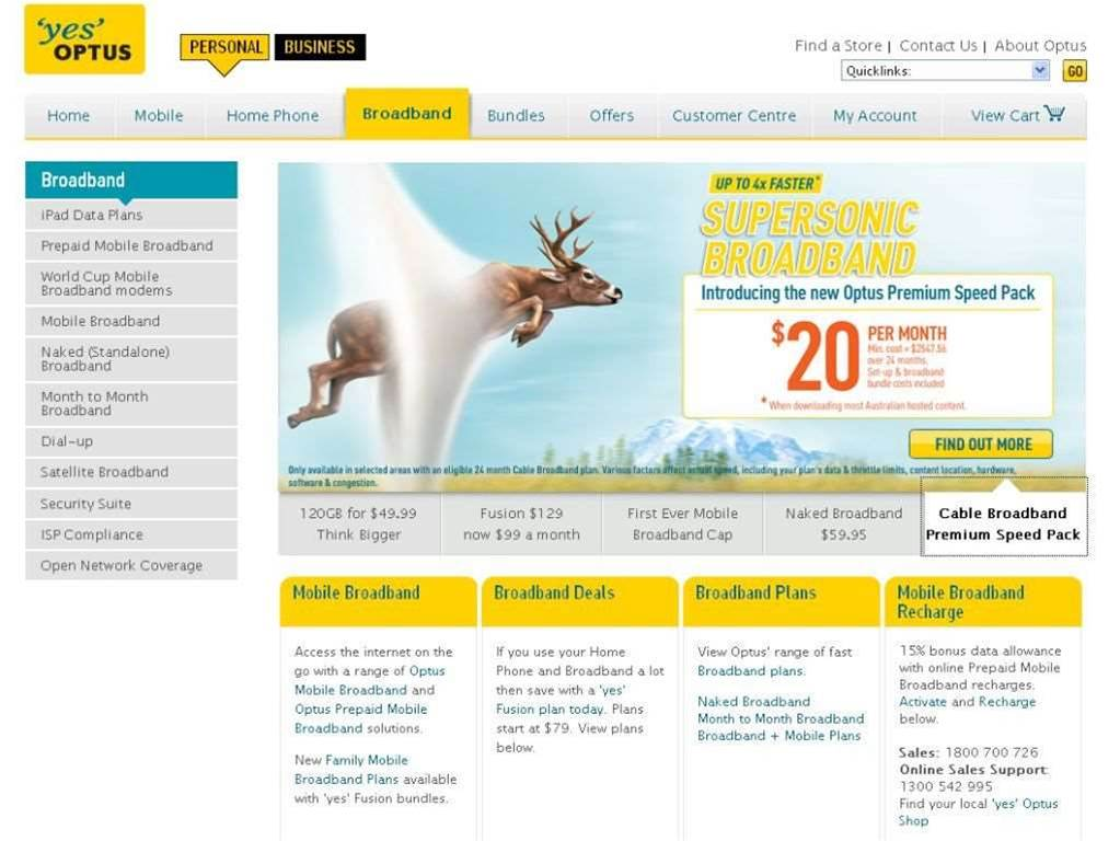 """Optus hit by ACCC case on """"supersonic"""" broadband"""