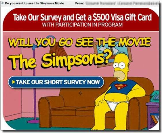 D'OH! Spammers exploit Simpsons movie